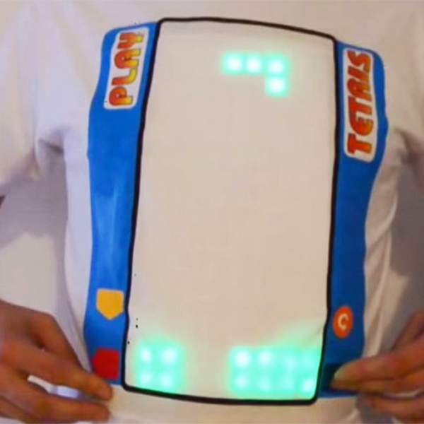 Тетрис,футболка,LED, Изобретатель из Люксембурга сделал футболку для игры в «Тетрис»