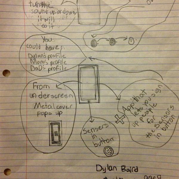 дети,рисунок,iPhone,iPhone6, Как дети представляли себе iPhone 6