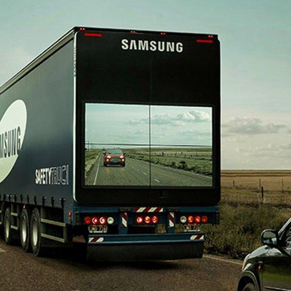 Samsung, дизайн, автомобиль, авто, автомобили, «Прозрачные грузовики» помогут сделать обгоны безопаснее