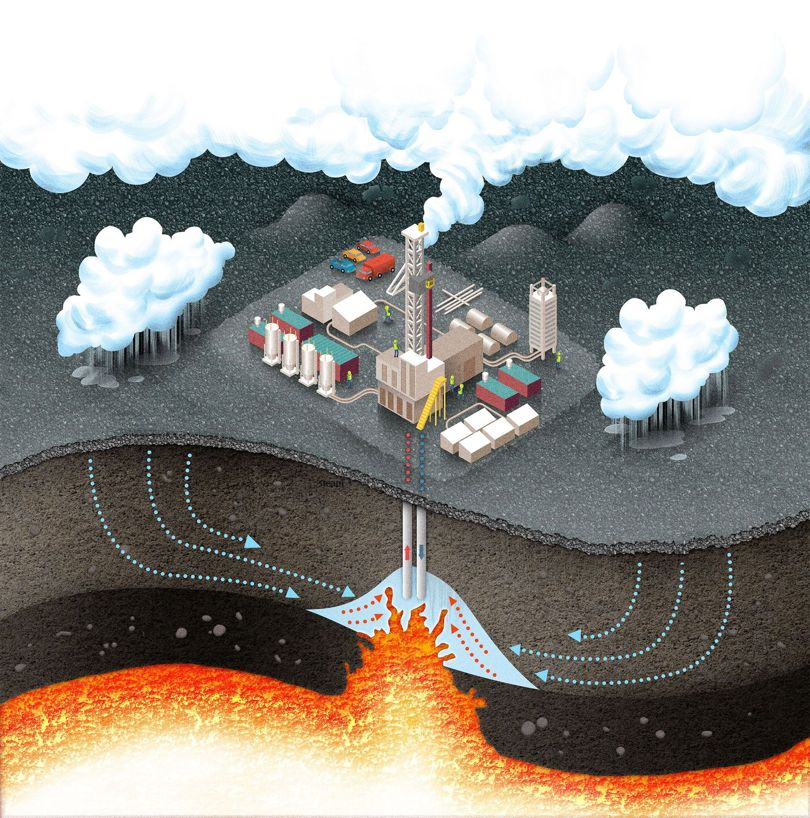 природа,геология,энергетика, Геотермальная энергетика Исландии: вулкан центрального отопления