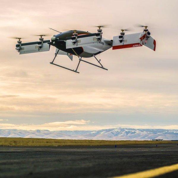 самолёт, авиация, дрон, Airbus провел испытание беспилотного аэротакси